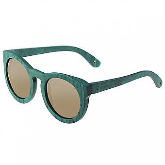 Spectrum Malloy hout gepolariseerde zonnebril - Teal/Gold