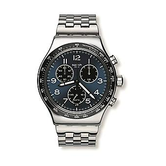 Swatch YVS423G-men's wristwatch, stainless steel, color: Silver