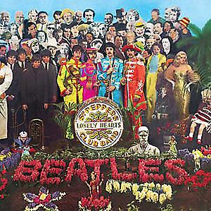 Beatles Sgt. Pepper LP cover steel fridge magnet