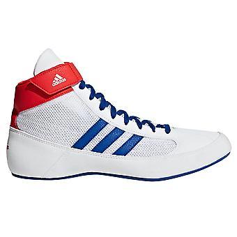 أديداس فساداً رجالي الكبار المصارعة مدرب الأحذية الحذاء الأبيض الأزرق/الأحمر
