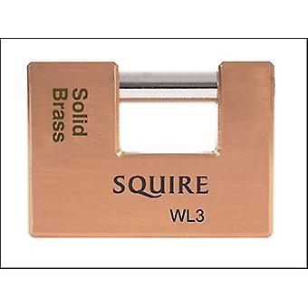 WL3 WAREHOUSE PADLOCK 90MM SOLID BRASS