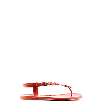Moncler Red Leather Sandals