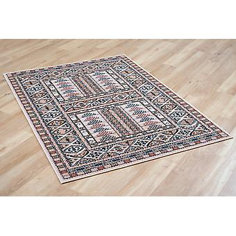 Afghan 5938-41 now 7901/Biege Beige and rusty red Rectangle Rugs Traditional Rugs