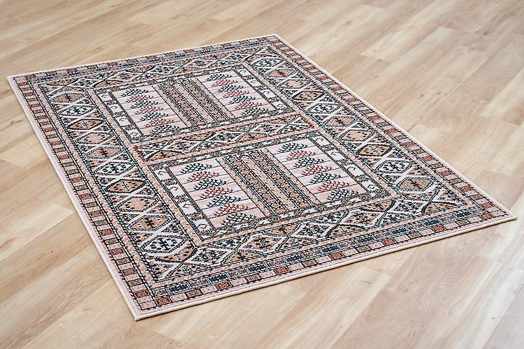 Afghane 5938-41 maintenant 7901 / Biege beige et rouge rouillée Rectangle tapis tapis traditionnels