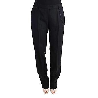 Ermanno Scervino Black Wool Regular Fit Pants -- SIG3437936