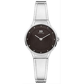 Датский дизайн шик Антея часы-серебро/черный