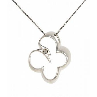 Cavendish French Sterling Silver Open Butterfly Pendant