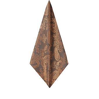 Dobell Mens Bronze Paisley Handkerchief