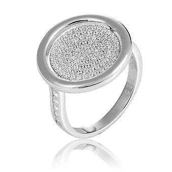 Orphelia Silver 925 Ring Reversible With Flower And Zirconium ZR-7444
