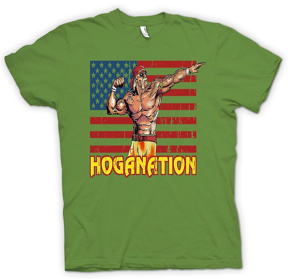 Mens T-shirt - Hoganation - Hulk Hogan U.S. Flagge