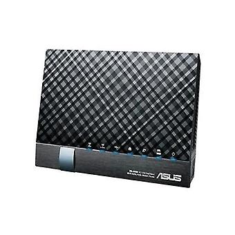 Asus dsl-ac56u router modem adsl2/2 +/vdsl2 2xusb wireless 1,200 mbps color black