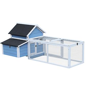 PawHut Chicken Coop Run House Hutch Animal Cage Poultry Nest Hen House Outdoor Large 180cm