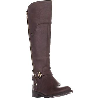 GUESS G Harson5 Wide Calf Knee High Boots, Dark Brown, 6 US