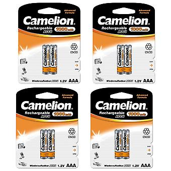 8x Camelion rechargeable batteries AAA NiMH 1000mAh battery