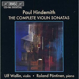 Paul Hindemith - Paul Hindemith: The Complete vioolsonates [CD] USA import
