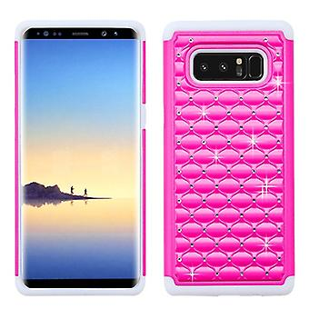 ASMYNA Hot Pink/Solid White FullStar Protector Cover  for Galaxy Note 8