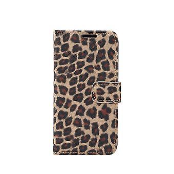 iPhone 11 Pro Max Monedero Caso Leopard Cover-Amarillo