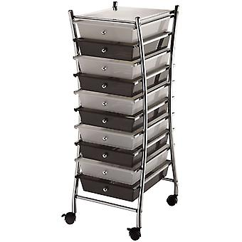 X Frame Storage Cart with 10 Drawers 13