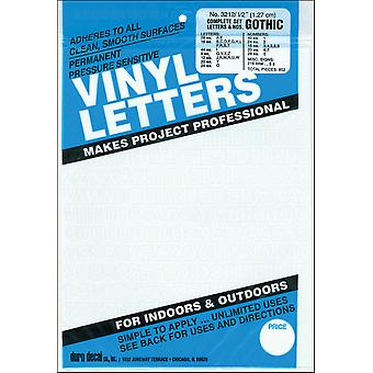 Permanent Adhesive Vinyl Letters & Numbers .5