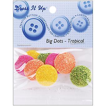 Dress It Up Embellishments Big Dots Tropical Diubttn 4740