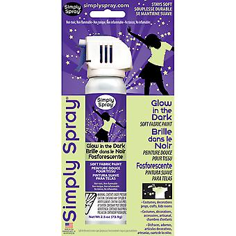 Glow In The Dark Spray Fabric Paint 2.5 Ounces Gl380107
