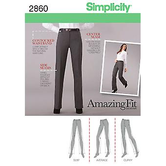Simplicity Misses And Miss Petite Pants 8,10,12,14,16 U02860k5