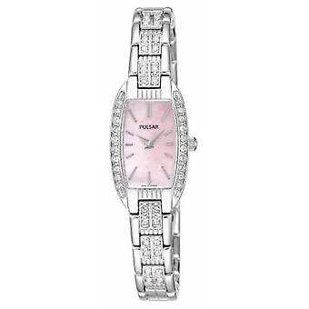 Pulsar Womens Stainless Steel Bracelet Pink Mother Of Pearl Dial PEGG75X1 Watch