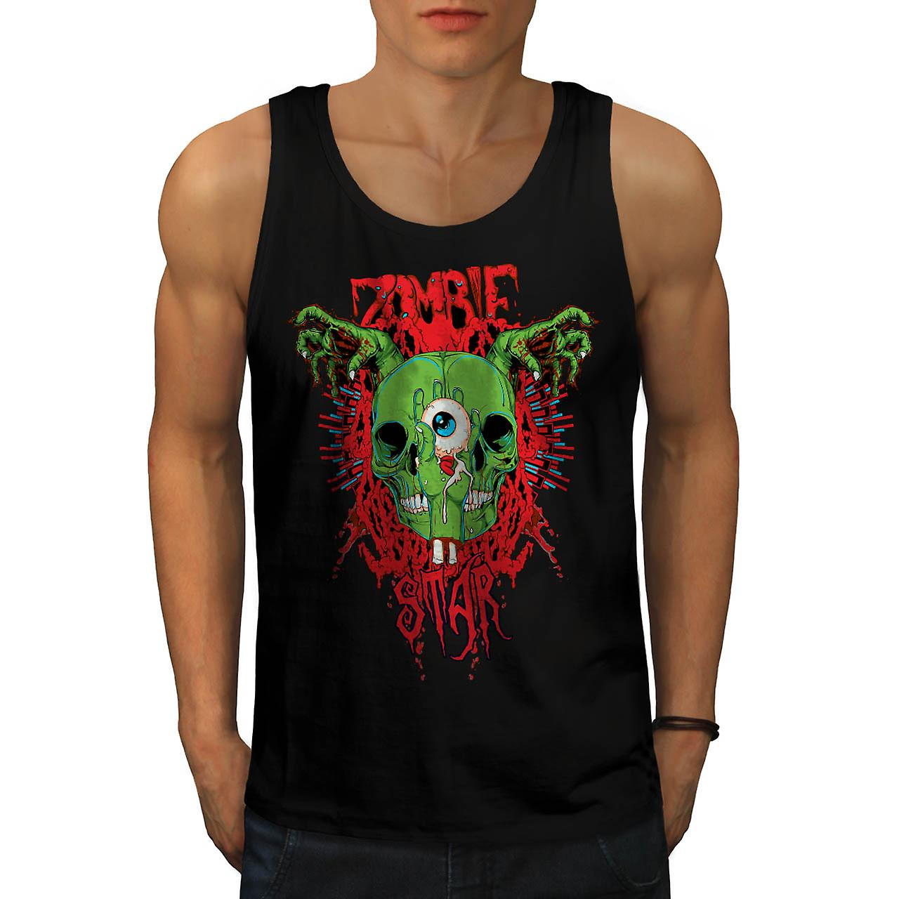 Monster Zombie Evil Star Night Men Black Tank Top | Wellcoda