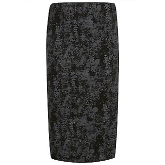 Black & Grey Smudge Print Tube Skirt