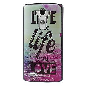 Live the life cover in plastic PC to LG G3
