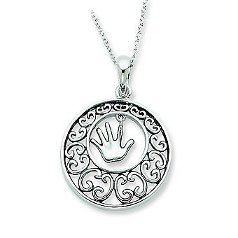 Sterling Silver Antiqued Children 18inch Necklace - 6.1 Grams