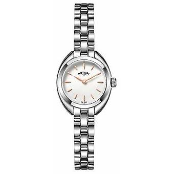 Rotary Womans Thin Metal Strap White Dial LB05013/02 Watch