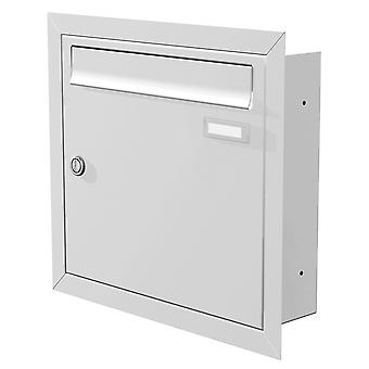 Max Knobloch mounted mailbox white (RAL 9016) 12 litres installation letter box