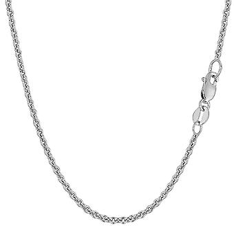 14k White Gold Forsantina Chain Necklace, 2.3mm