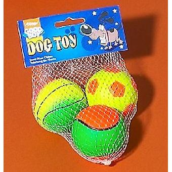 Bra pojke svamp bollar 3pk 65mm (2,5
