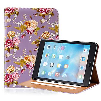 32nd Floral Design folio case for Apple iPad Mini 1 2 3 - Vintage Rose Fossil
