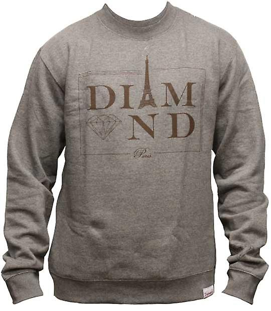 Diamond Supply Co Paris Sweatshirt Grey