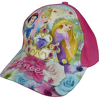 Girls Disney Princess Baseball Cap with Adjustable Back