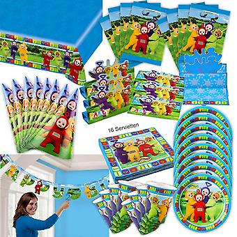 Teletubbies party set XL 60-teilig for 8 guests Teletubby decorative birthday Kit
