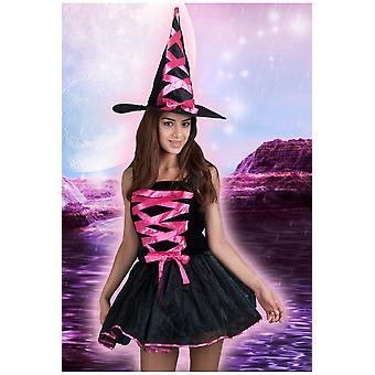 Women costumes Women Sexy witch neon pink