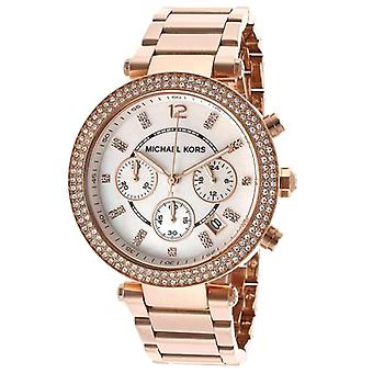 Michael Kors MK5491 Gold Parker Crystal Dial Chronograph Women's Ladies Wrist Watch
