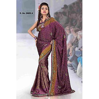 Akshata Fancy festival wear designer Georgette Sari  with sequin design