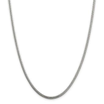 Sterling Silver Polished Lobster Claw Closure Snake Chain Necklace - 3mm - Lobster Claw - Length: 16 to 24