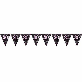 Amscan Sparkling Celebration 30th Birthday Decorative Bunting