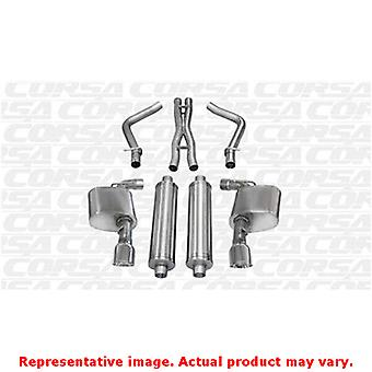 CORSA Performance Cat Back Exhaust 14463 Polished Fits:CHRYSLER 2012 - 2014 300