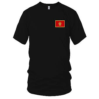 Monetnegro Country National Flag - Embroidered Logo - 100% Cotton T-Shirt Kids T Shirt