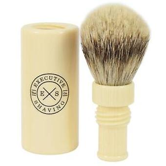 Executive Shaving Silvertip Turnback Travel Shaving Brush - Ivory