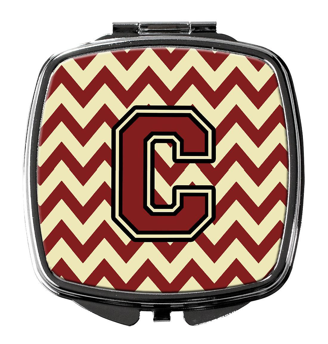Et Chevron Miroir Lettre C Carolines Cj1061 Marron Or Trésors cscm Compact dxWrCoeB