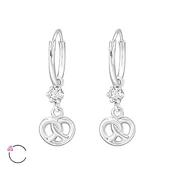 Infinity Knot Crystal From Swarovski® - 925 Sterling Silver Earrings - W32865x