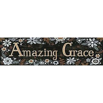 Amazing Grace Floral Poster Print by Annie LaPoint (30 x 8)